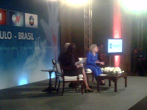 Secretary Clinton Participates in Sao Paulo Townterview by U.S. Department of State.