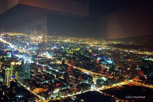 101 85樓所看到的夜景。
