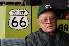 Bill Shea, the owner of Bill Shea's Gas Station Museum on Route 66