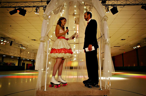 roller skating wedding - Michelle Hayes Photography