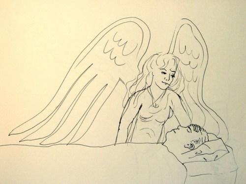 Angel at bed