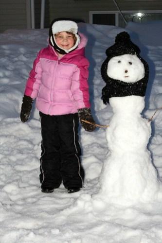 First snowman of 2010