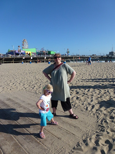 Lone & Freya på stranden