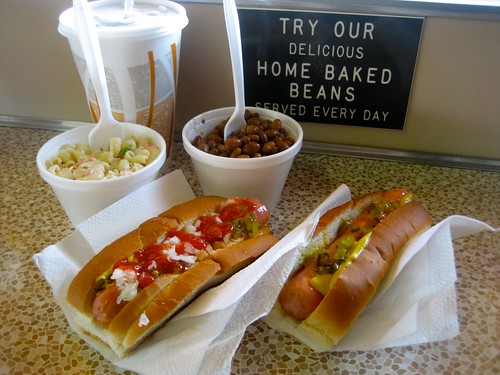 Nick's Nest Hot Dogs and Beans