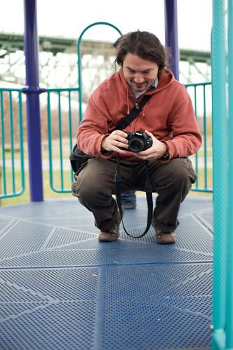 Gwyn on a Playground