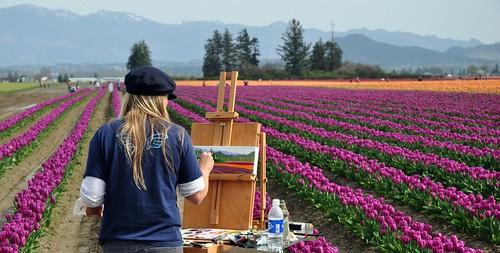 Making Art in a Tulip Field
