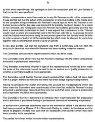 Law Society of Scotland report on solicitor Andrew Penman Stormonth Darling Kelso Page 4