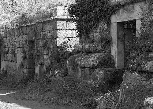 Necropolis, Etruscan, tomb, cemetery, Ceveteri, Italy