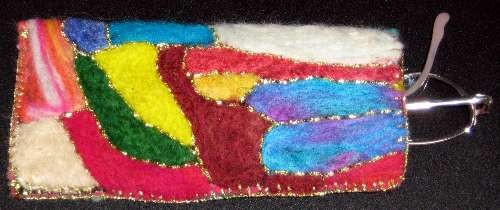 Needle Felted Glasses Case
