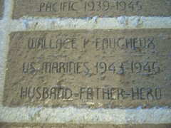 WALLACE P. FAUCHEUX; US MARINES 1943-1946; HUSBAND, FATHER, HERO