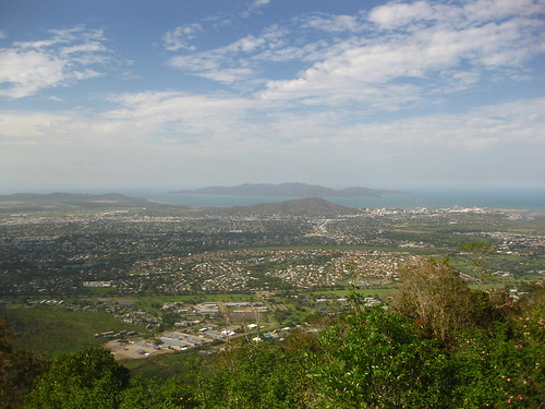 Looking out over Townsville
