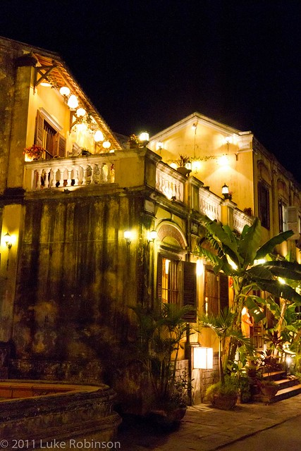 Classic Hoi An River Houses by Night