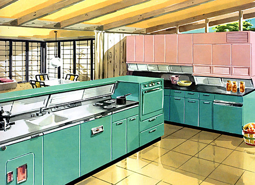 """kitchen - """"green-o-pink"""" by x-ray delta one."""
