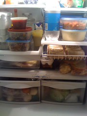 My Fridge with Thanksgiving Leftovers