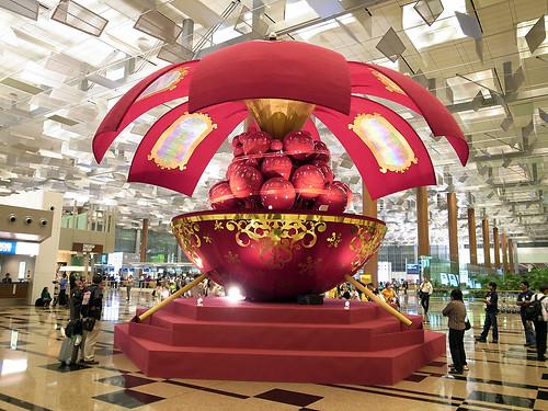 Singapore Changi Airport Terminal 3 Public Area Christmas Decoartion