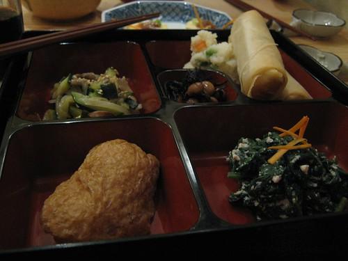 Pan fried vegetables, harumaki, inari and more!