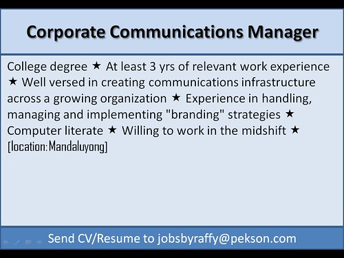 Corporate Communications Manager