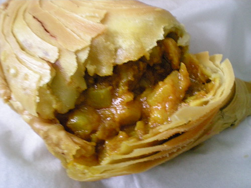 Chicken and potato curry puff