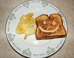 Smiley-Face Cheese Sandwich 1