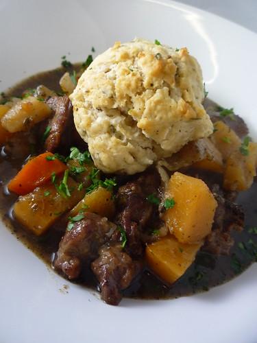 Beef Stew with Root Vegetable & Dumplings