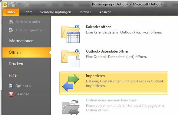 Kontakte In Outlook Importieren Outlook Kontakte