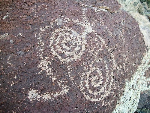 Hiking near Taos NM - petroglyphs