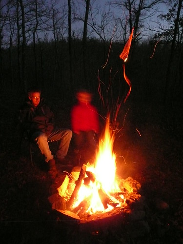 around the campfire, ozarks, nov. 2009