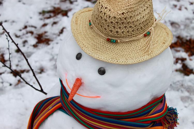 Beachy Snowman