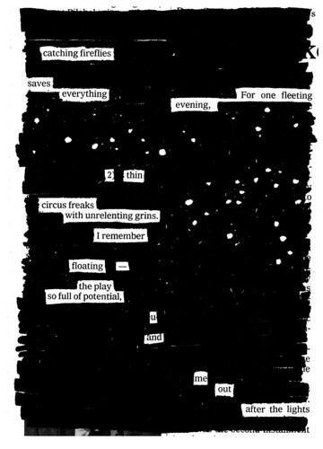 """Fireflies"" from NEWSPAPER BLACKOUT by Austin Kleon."
