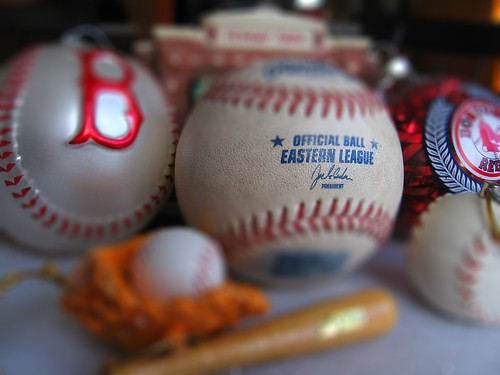 Baseball-related Christmas Ornaments