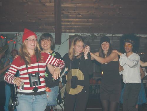 Bamfield Halloween revellers
