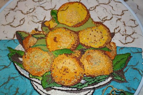 Lemon embroidery week four