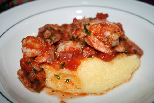 Shrimp and Pancetta /Polenta