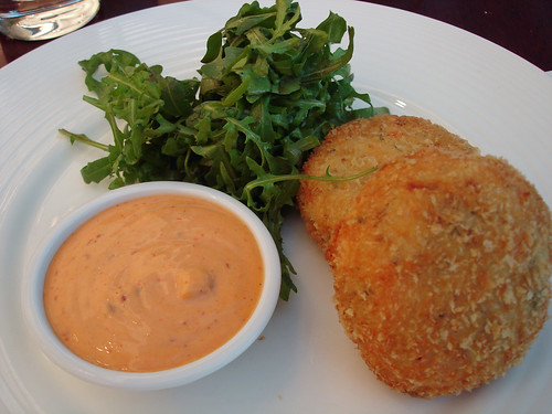 Smoked Salmon and Haddock Fishcakes with Harissa Mayonnaise