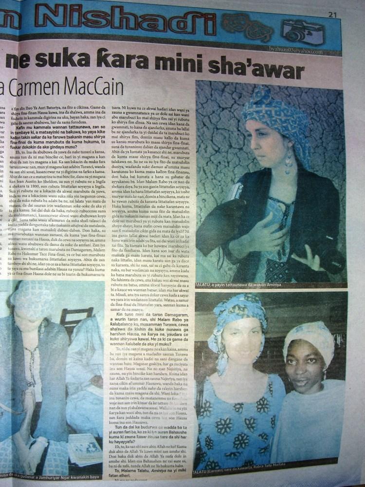 Interview with me in last week's Aminiya (5/5)