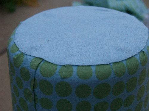 Fabric covered wastebasket Step 5