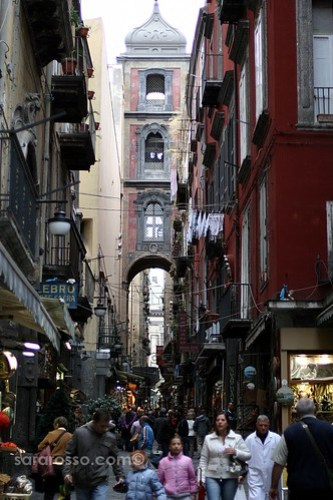 Spaccanapoli, the heart of Naples' center, Italy