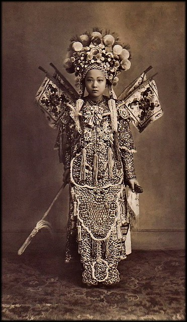 Cholon Actress, Cholon, Saigon, French Cochinchina [c1900's] Attribution Unk [RESTORED]