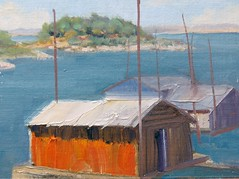 Boat House Study - 6x8