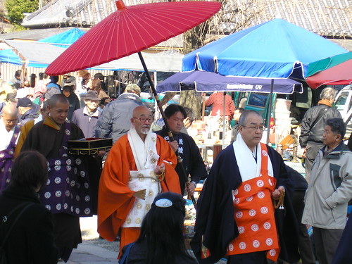 BUDDHIST PROCESS AT OSAKA FLEA MARKET