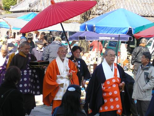 BUDDHIST PROCESS AT OSAKA FLEA MARKET