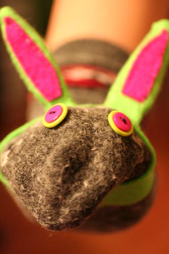 Erin's Bunny Rabbit Sock Puppet