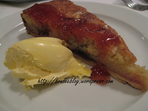 Fig Bakewell Tart and Jersey Cream