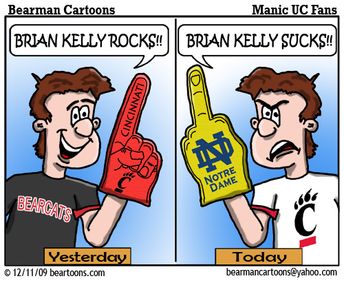 12 11 09 Bearman Cartoon Brian Kelly to Notre Dame