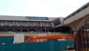 O R Tambo airport under construction