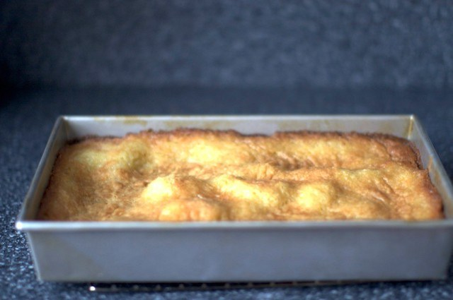 rippled, wavy cake