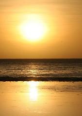 Rarotonga sunset bright