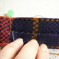 Plaid Matching by Slip Basting