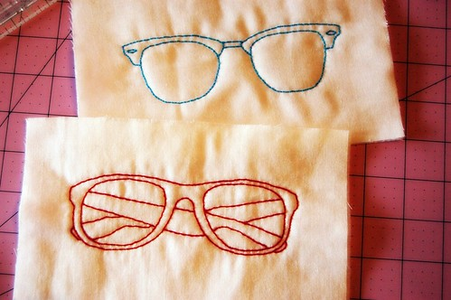 Embroidered Glasses Case Tops