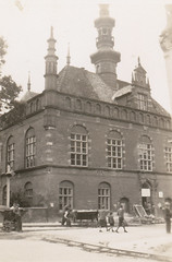 Brick building intact, Poland, summer 1946